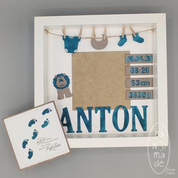 Geburt_Rahmen_Karte_Anton_Petrol